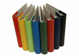 back to school organizing with colorful binders