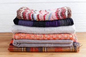 organized blankets - organizing boston